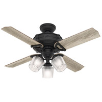 Hunter Fan 52263 Brunswick 44 inch Natural Iron with Grey Oak/Aged Oak Blades Ceiling Fan