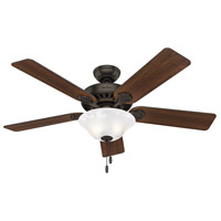 Hunter Fan 53041 Buchanan 52 inch Premier Bronze with Dark Cherry/Cabin Home Blades Ceiling Fan