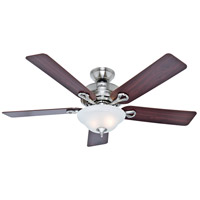 Hunter Fan 53047 Kensington 52 inch Brushed Nickel with Cherry/Maple Blades Ceiling Fan