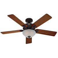 The Astoria 52 inch New Bronze with Walnut/Medium Oak Blades Indoor Ceiling Fan
