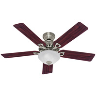 The Astoria 52 inch Brushed Nickel with Cherry/Maple Blades Indoor Ceiling Fan