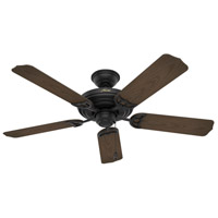 Hunter Fan 53060 Sea Air 52 inch Textured Matte Black with Cocoa Blades Outdoor Ceiling Fan
