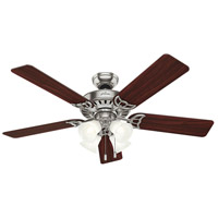 Hunter Fans Studio Series 4 Light Indoor Ceiling Fan in Brushed Nickel 53064