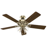 Hunter Fans Studio Series 4 Light Indoor Ceiling Fan in Hunter Bright Brass Finish 53066