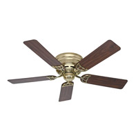 Low Profile 52 inch Hunter Bright Brass with Walnut/Medium Oak Blades Ceiling Fan
