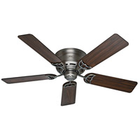 Hunter Fans Low Profile (III) Indoor Ceiling Fan in Antique Pewter 53071