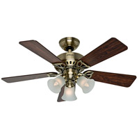 Hunter Fans The Beacon Hill 3 Light Indoor Ceiling Fan in Antique Brass 53078