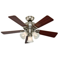 The Beacon Hill 42 inch Brushed Nickel with Cherry/Maple Blades Indoor Ceiling Fan