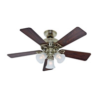 Hunter Fans The Beacon Hill 3 Light Indoor Ceiling Fan in Hunter Bright Brass Finish 53080
