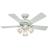 Hunter Fans The Beacon Hill 3 Light Indoor Ceiling Fan in White 53081