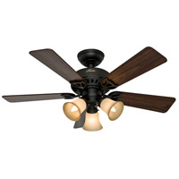 Hunter Fan 53082 The Beacon Hill 42 inch New Bronze with Walnut/Cherry Blades Indoor Ceiling Fan photo thumbnail