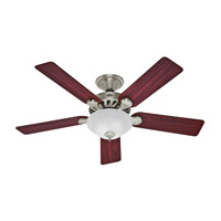Five Minute Fan 52 inch Brushed Nickel with Cherry/Maple Blades Indoor Ceiling Fan