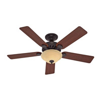 Hunter Fans Five Minute Fan 2 Light Indoor Ceiling Fan in New Bronze 53086