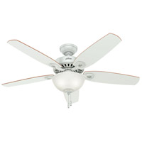 Builder 52 inch White with White/Beech Blades Indoor Ceiling Fan