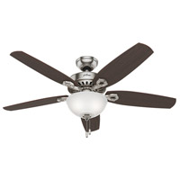 Builder Deluxe 52 inch Brushed Nickel with Stained Oak/Brazilian Cherry Blades Ceiling Fan