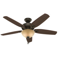 Builder Deluxe 52 inch New Bronze with Brazilian Cherry/Stained Oak Blades Ceiling Fan