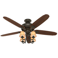 Cortland 54 inch New Bronze with Dark Cherry/Walnut Blades Ceiling Fan