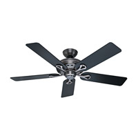 The Savoy 52 inch Antique Pewter with Black/Cherry Blades Indoor Ceiling Fan