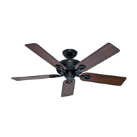 The Savoy 52 inch Matte Black with Walnut/Light Cherry Blades Indoor Ceiling Fan