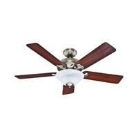 Hunter Fans The Brookline 2 Light Indoor Ceiling Fan in Brushed Nickel 53109