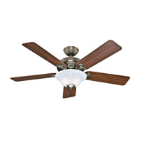 Hunter Fan 53110 The Brookline 52 inch Antique Brass with Walnut/Medium Oak Blades Indoor Ceiling Fan photo thumbnail