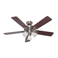 The Sontera 52 inch Brushed Nickel with Cherry/Maple Blades Indoor Ceiling Fan