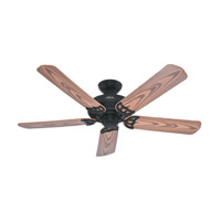 Bridgeport 52 inch Textured Black with Oak Plastic Blades Indoor Ceiling Fan