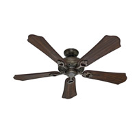 Kingsbury 52 inch Roman Bronze with Walnut Blades Indoor Ceiling Fan