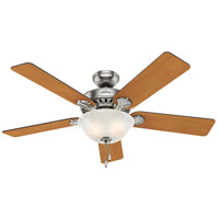 Hunter Fans Pros Best 2 Light Indoor Ceiling Fan in Brushed Nickel 53249