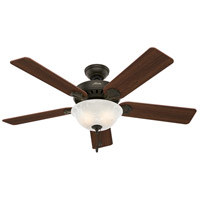 Hunter Fans Pros Best 2 Light Indoor Ceiling Fan in New Bronze 53250