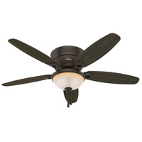 Hunter Fans Ashmont 3 Light Indoor Ceiling Fan in Onyx Bengal 53253