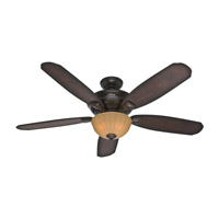 Hunter Fans Markley 3 Light Indoor Ceiling Fan in Onyx Bengal 53255