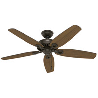 Hunter Fan 53292 Builder Elite 52 inch New Bronze with Stained Oak/Medium Walnut Blades Outdoor Ceiling Fan