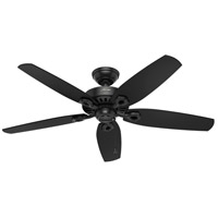 Hunter Fan 53294 Builder Elite 52 inch Matte Black with Matte Black/Stained Oak Blades Outdoor Ceiling Fan