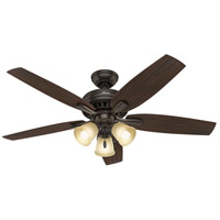 Newsome 52 inch Premier Bronze with Roasted Walnut/Yellow Walnut Blades Ceiling Fan