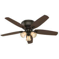Builder 52 inch New Bronze with Harvest Mahogany/Brazilian Cherry Blades Ceiling Fan, Low Profile