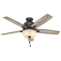 Donegan 52 inch Onyx Bengal with Barnwood/Dark Walnut Blades Indoor Ceiling Fan
