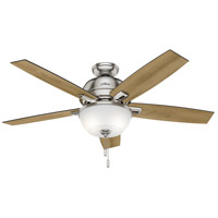 Donegan 52 inch Brushed Nickel with Distressed Oak/Dark Walnut Blades Indoor Ceiling Fan