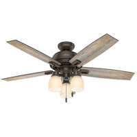 Hunter Fans Donegan LED Indoor Ceiling Fan in Onyx Bengal with Dark Walnut/Barnwood Blades 53336