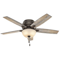 Donegan 52 inch Onyx Bengal with Dark Walnut/Barnwood Blades Indoor Ceiling Fan