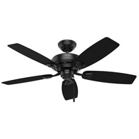 Hunter Fan 53351 Sea Wind 48 inch Matte Black Outdoor Ceiling Fan
