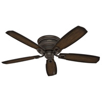 Hunter Fan 53355 Ambrose 52 inch Onyx Bengal with Burnished Aged Maple/Aged Maple Blades Ceiling Fan, Low Profile alternative photo thumbnail