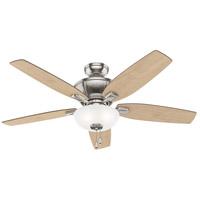 Hunter Fan 53377 Kenbridge 52 inch Brushed Nickel with American Walnut/Natural Wood Blades Ceiling Fan