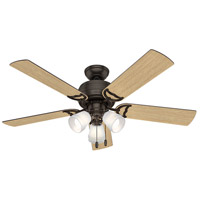 Hunter Fan 53383 Prim 52 inch Premier Bronze with Drifted Oak/Dark Walnut Blades Ceiling Fan