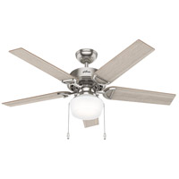 Hunter Fan 53419 Viola 52 inch Brushed Nickel with Light Grey Oak/Natural Wood Blades Ceiling Fan