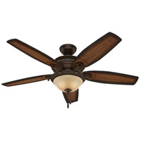 Hunter Fans Claymore 3 Light Indoor Ceiling Fan in Brushed Cocoa 54014