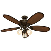 Hunter Fans Crown Park 3 Light Indoor Ceiling Fan in Tuscany Gold 54015