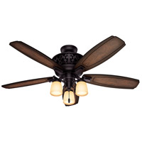 Willowcrest 54 inch Brittany Bronze with Burnished Mahogany/Mahogany Blades Ceiling Fan