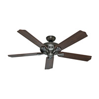 The Royal Oak 60 inch Antique Pewter with Walnut/Chestnut Blades Indoor Ceiling Fan
