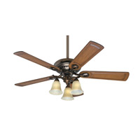 Hunter Fans Whitten 3 Light Indoor Ceiling Fan in Bronze Patina 54059